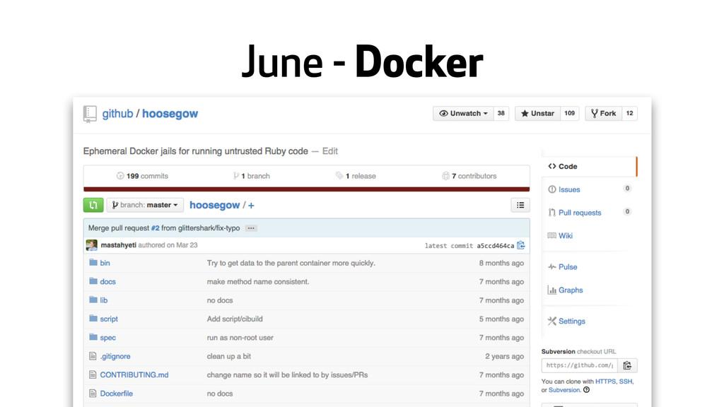 June - Docker