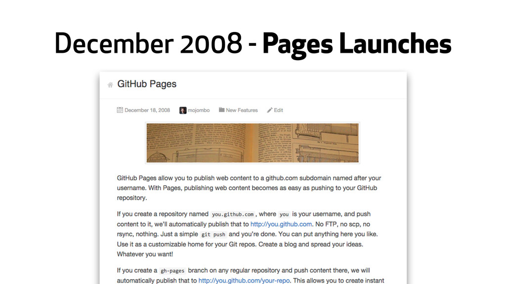 December 2008 - Pages Launches