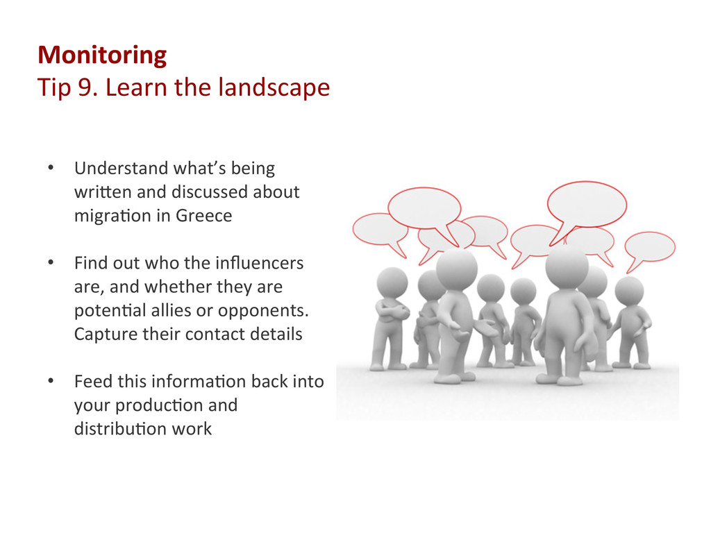 Monitoring  Tip 9. Learn ...
