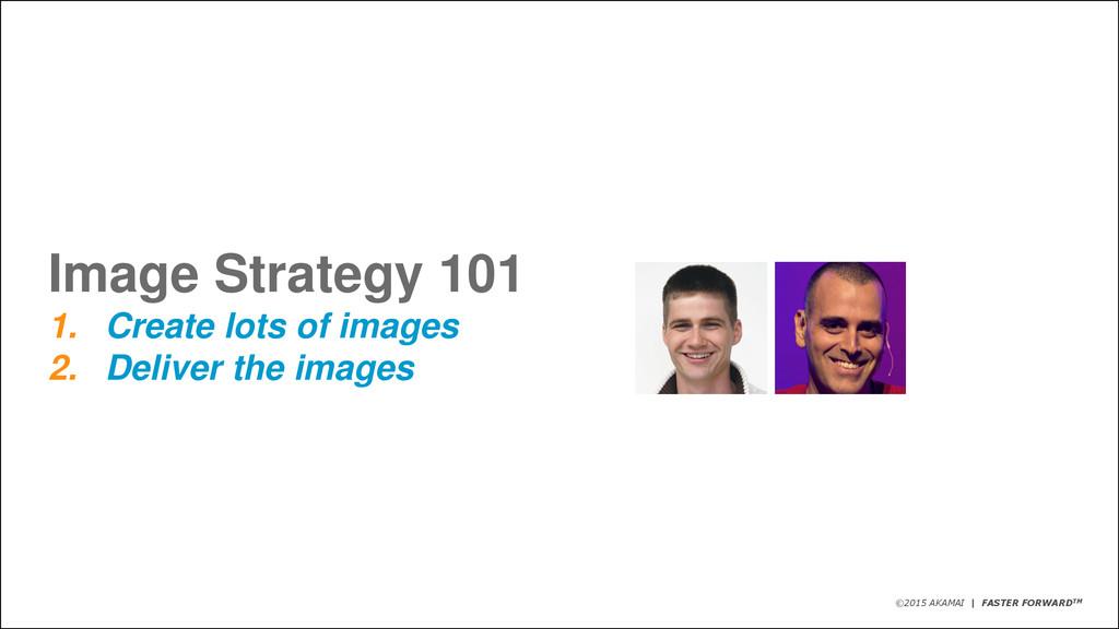 ©2015 AKAMAI   FASTER FORWARDTM Image Strategy ...