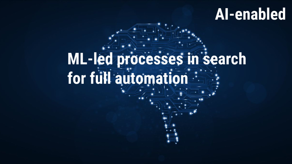 AI Enabled AI-enabled ML-led processes in searc...
