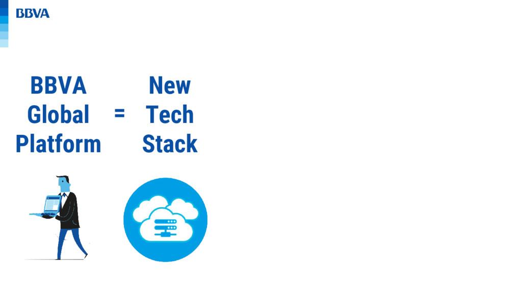 BBVA Global Platform = New Tech Stack