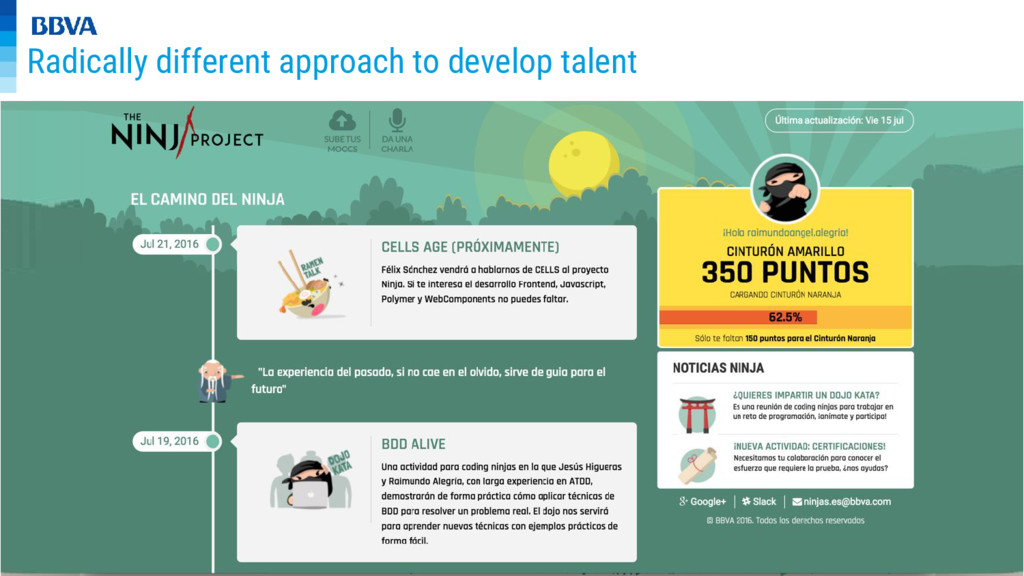 Radically different approach to develop talent
