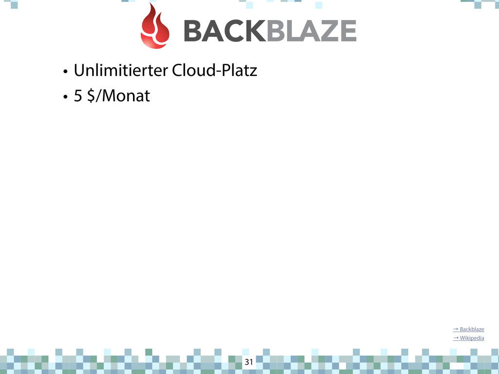 Backblaze • Unlimitierter Cloud-Platz • 5 $/Mon...