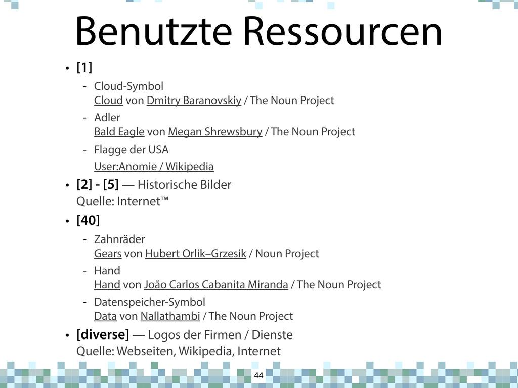 Benutzte Ressourcen • [1] - Cloud-Symbol Cloud ...