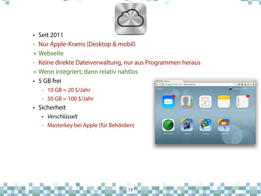 iCloud 13 • Seit 2011 - Nur Apple-Krams (Deskto...