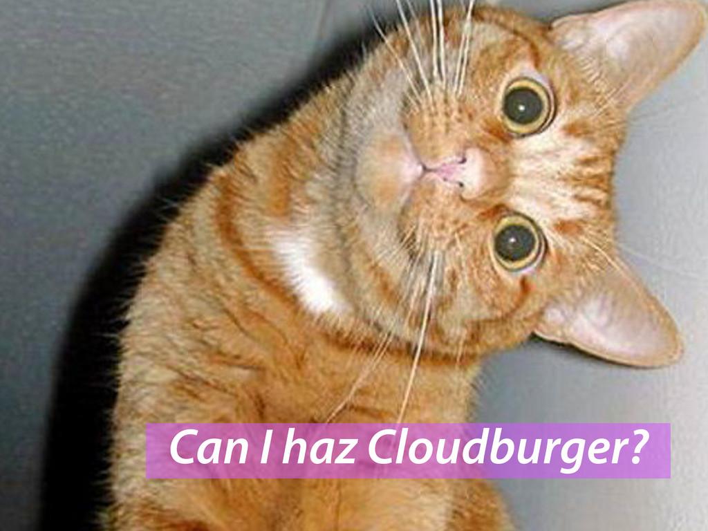 Can I haz Cloudburger?