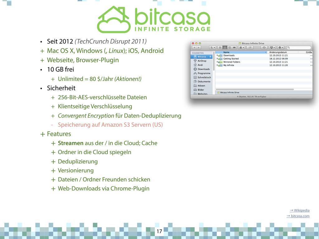 Bitcasa 17 • Seit 2012 (TechCrunch Disrupt 2011...