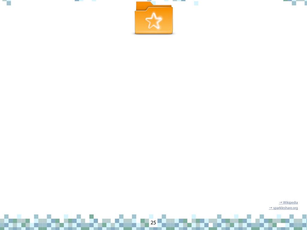 SparkleShare 25 → Wikipedia → sparkleshare.org