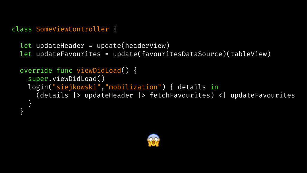 class SomeViewController { let updateHeader = u...