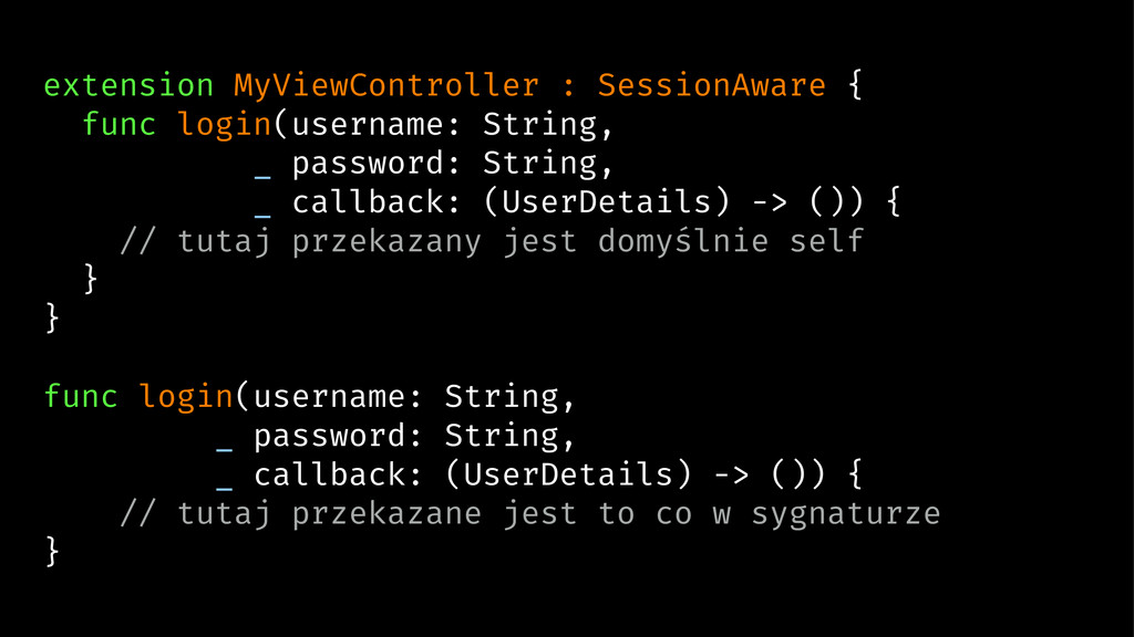 extension MyViewController : SessionAware { fun...