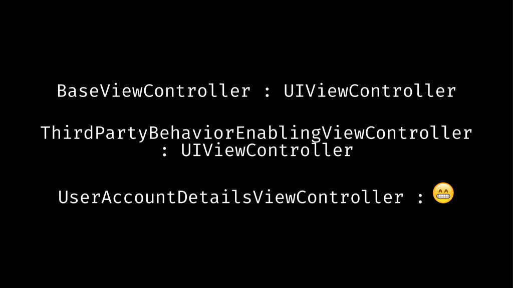 BaseViewController : UIViewController ThirdPart...