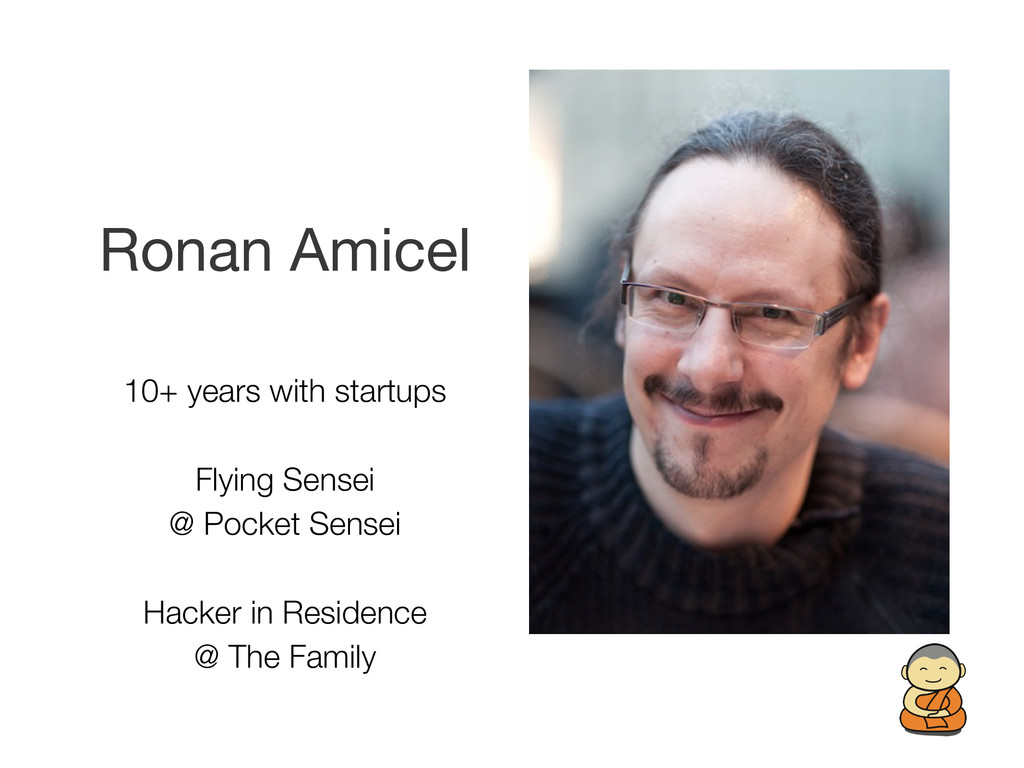 Ronan Amicel 10+ years with startups Flying Sen...