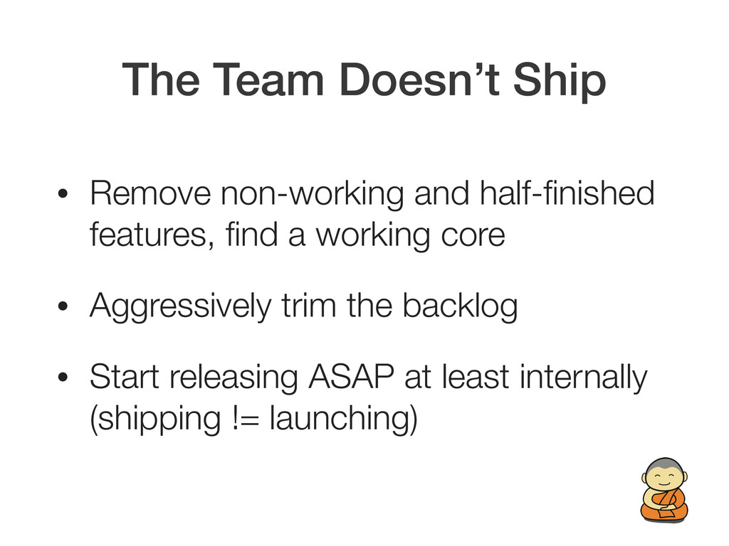 The Team Doesn't Ship • Remove non-working and ...