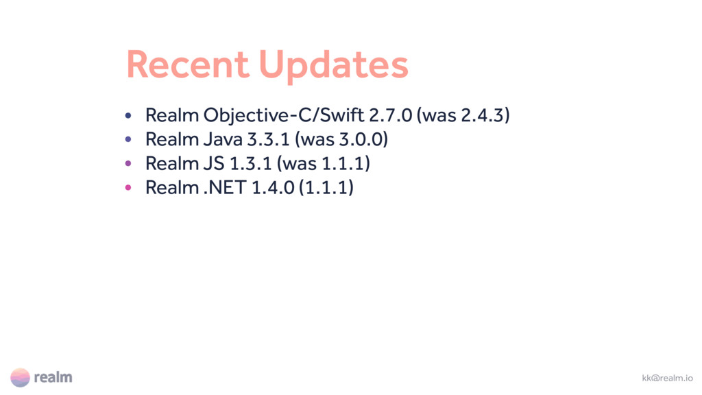 Recent Updates • Realm Objective-C/Swift 2.7.0 ...