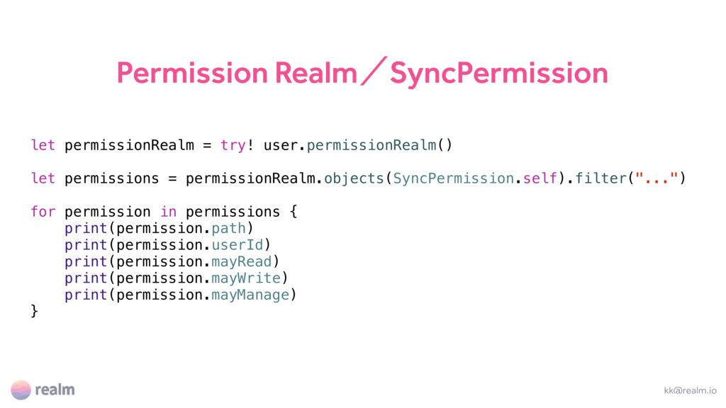 Permission RealmʗSyncPermission kk@realm.io let...