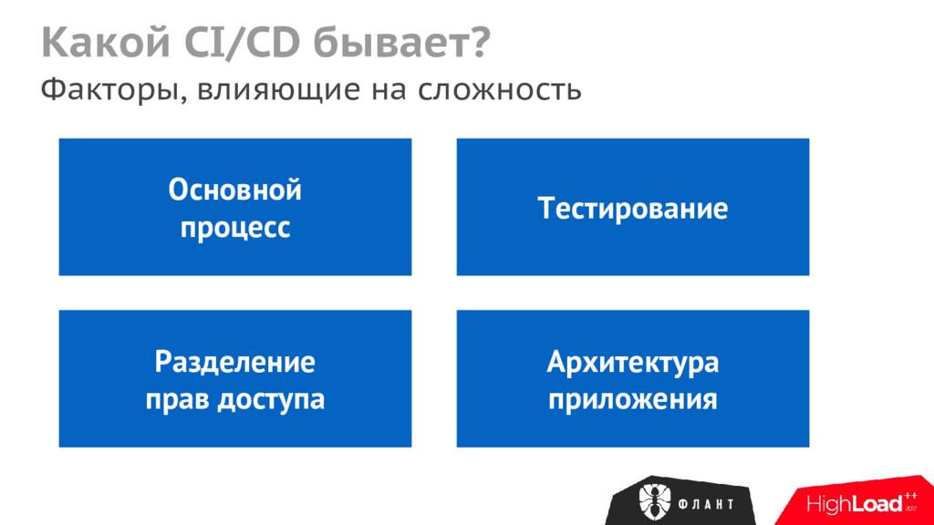 Какой CI/CD бывает? Факторы, влияющие на сложно...