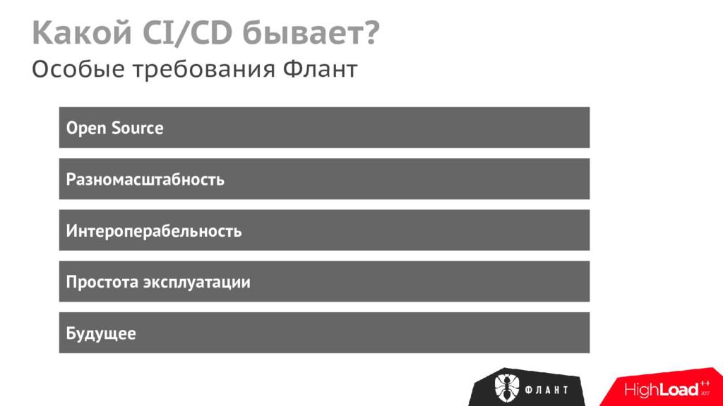 Какой CI/CD бывает? Особые требования Флант Ope...