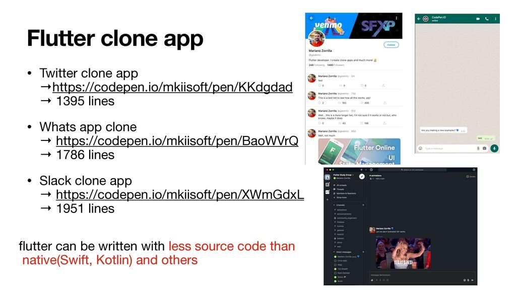 Flutter clone app • Twitter clone app →https:/...
