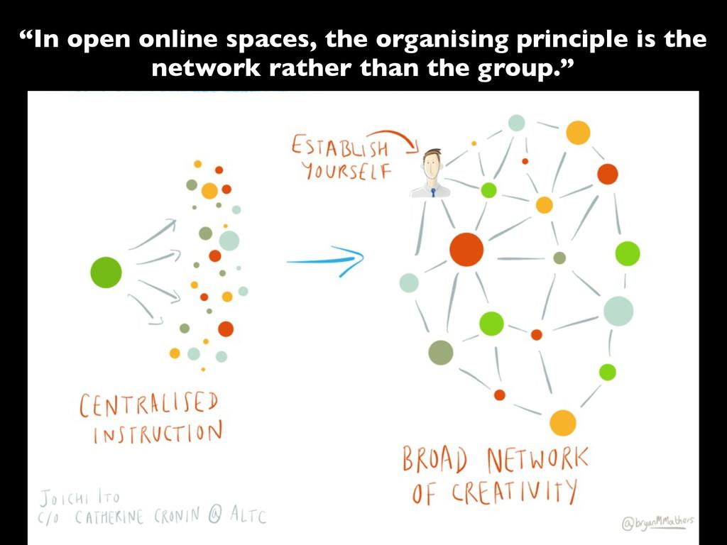 """In open online spaces, the organising principl..."