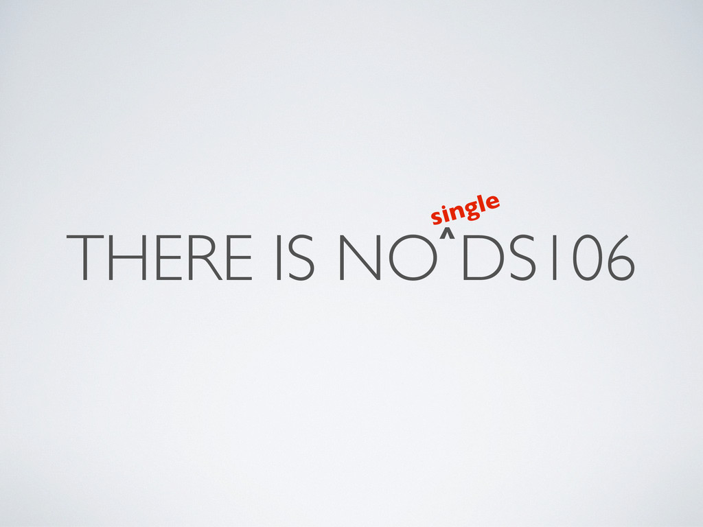 THERE IS NO DS106 ^ single
