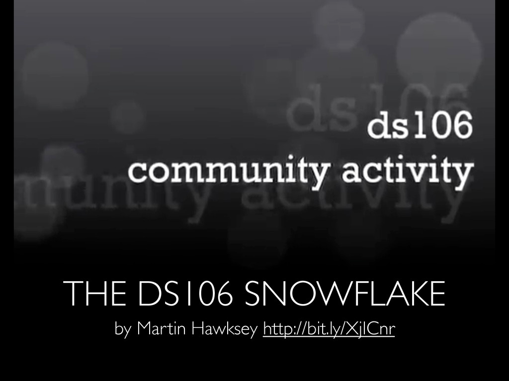 THE DS106 SNOWFLAKE by Martin Hawksey http://bi...