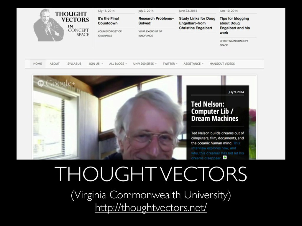 THOUGHT VECTORS (Virginia Commonwealth Universi...