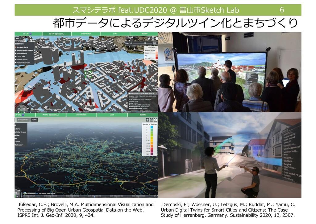 スマシテラボ feat.UDC2020 @ 富⼭市Sketch Lab 6 都市データによるデ...