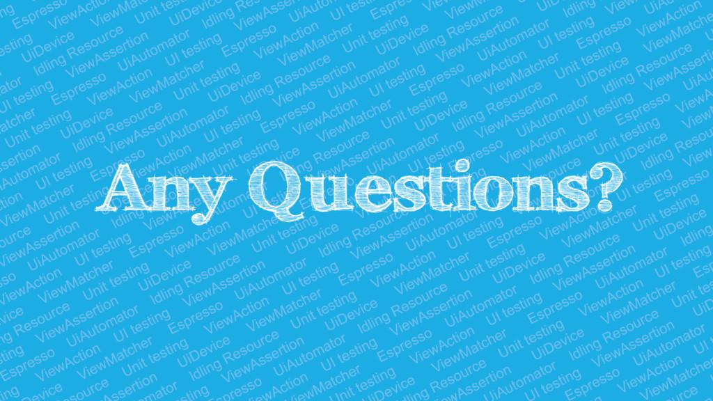 Any Questions? @Alex_Zhukovich