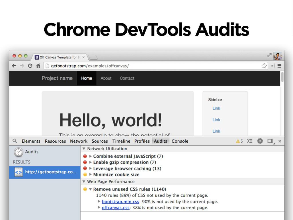 Chrome DevTools Audits