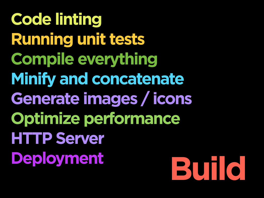 Code linting Running unit tests Compile everyth...