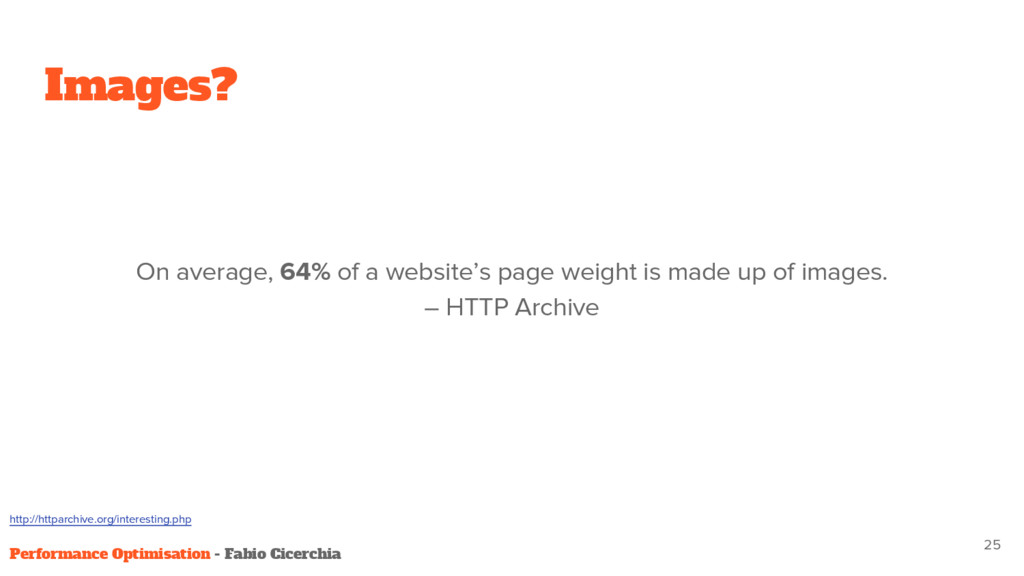 Images? On average, 64% of a website's page wei...