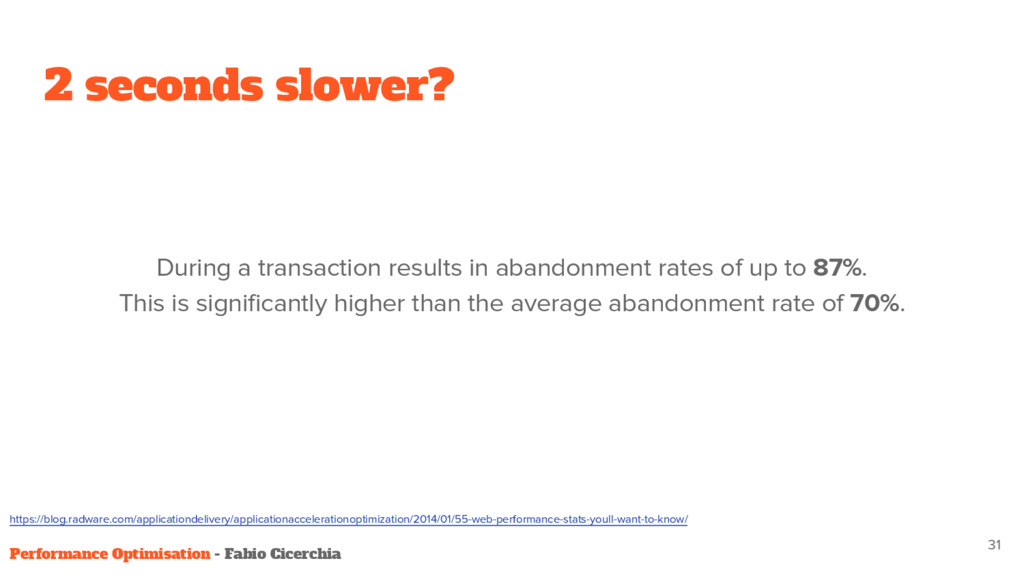 2 seconds slower? During a transaction results ...