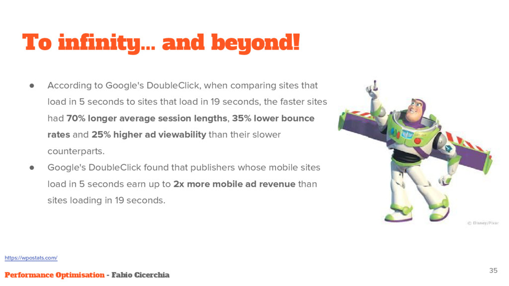 To infinity... and beyond! ● According to Googl...