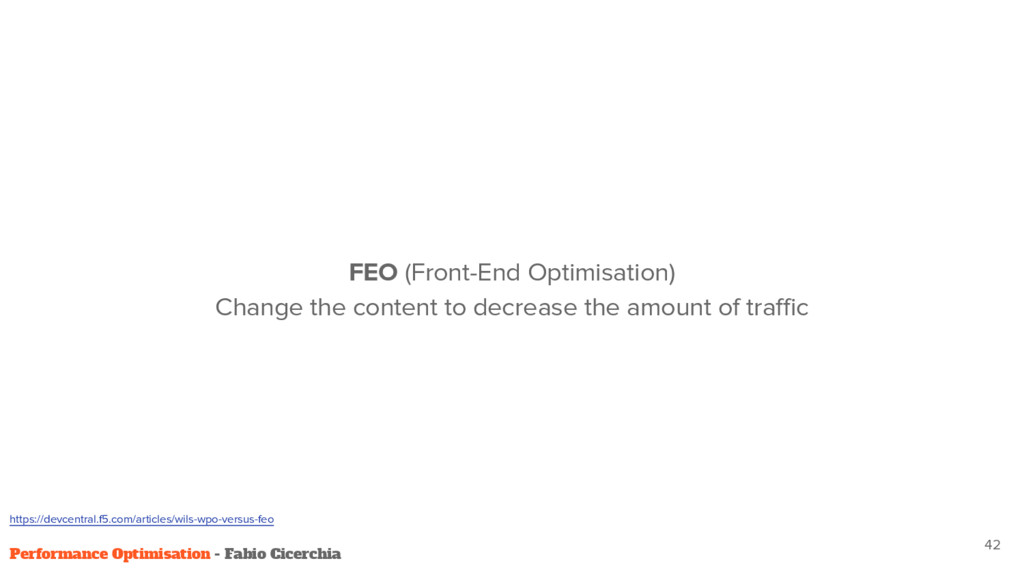 42 Performance Optimisation - Fabio Cicerchia F...