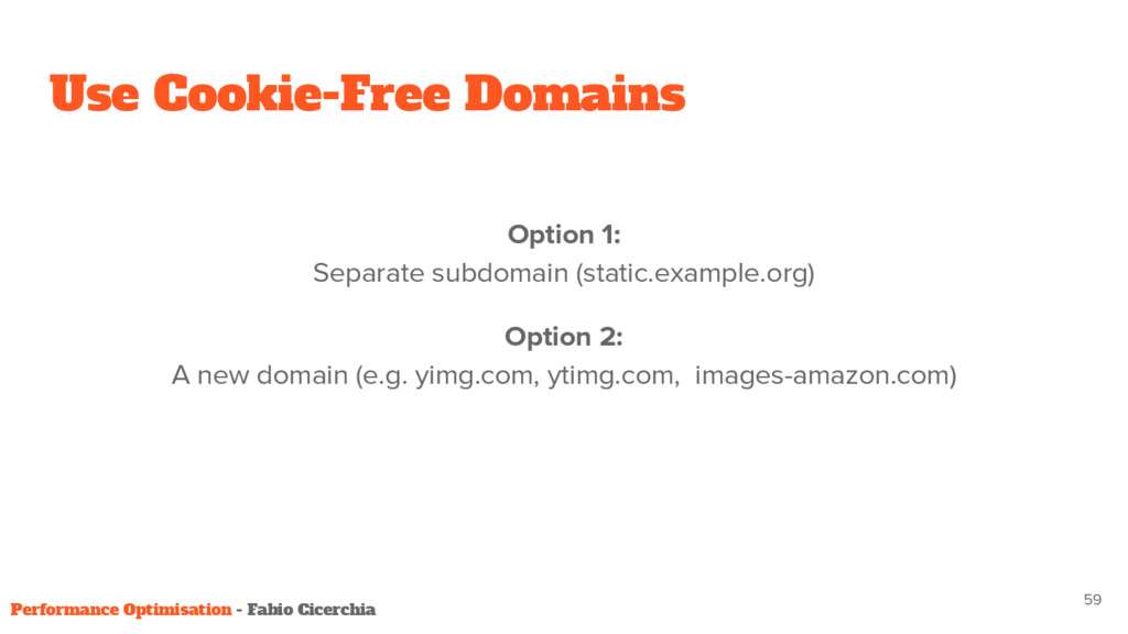 Option 1: Separate subdomain (static.example.or...