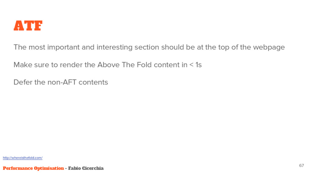 ATF The most important and interesting section ...