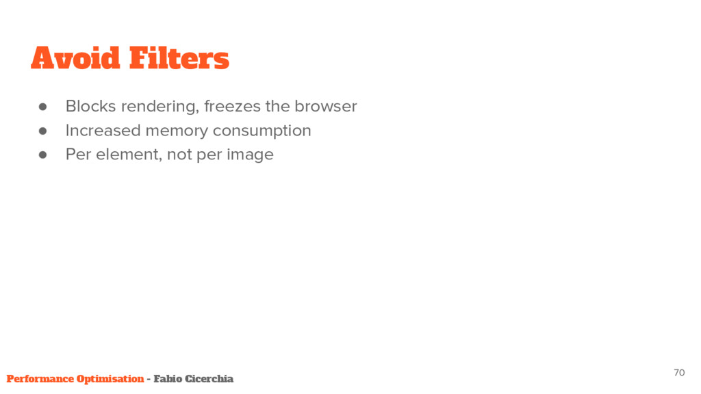 ● Blocks rendering, freezes the browser ● Incre...