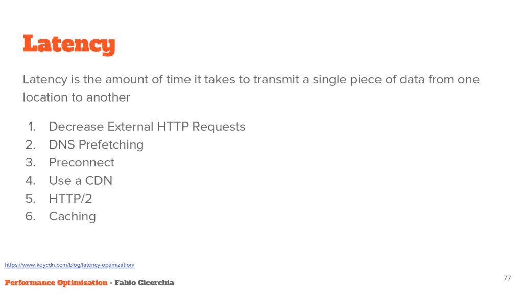 Latency Latency is the amount of time it takes ...