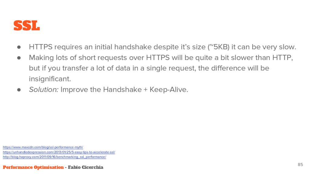 SSL ● HTTPS requires an initial handshake despi...
