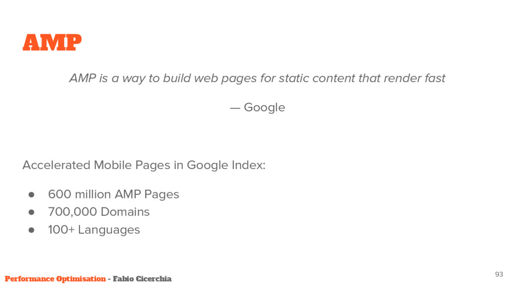 AMP AMP is a way to build web pages for static ...