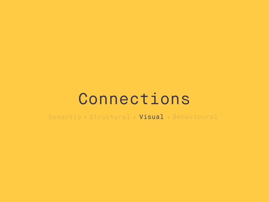 Semantic Structural Visual Behavioural Connecti...