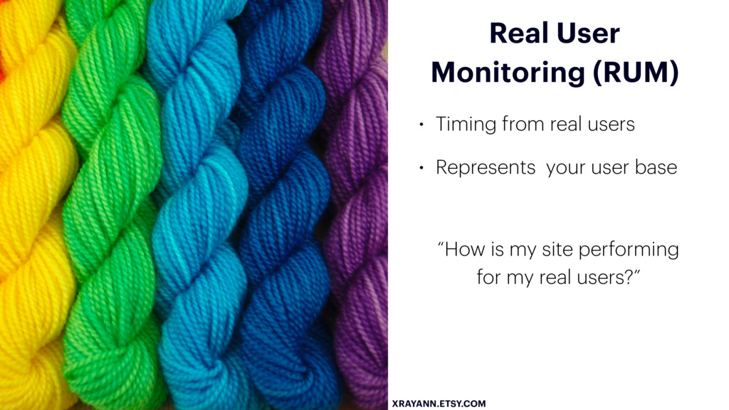 XRAYANN.ETSY.COM Real User Monitoring (RUM) • T...