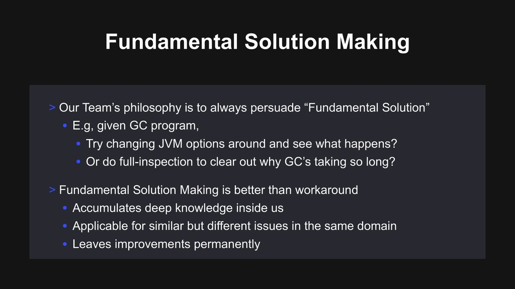Fundamental Solution Making > Our Team's philos...