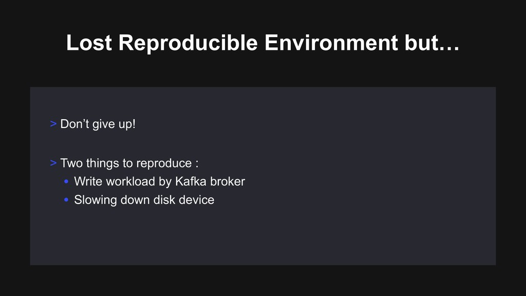 Lost Reproducible Environment but… > Don't give...