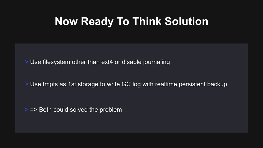 Now Ready To Think Solution > Use filesystem ot...