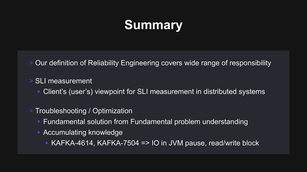 Summary > Our definition of Reliability Enginee...