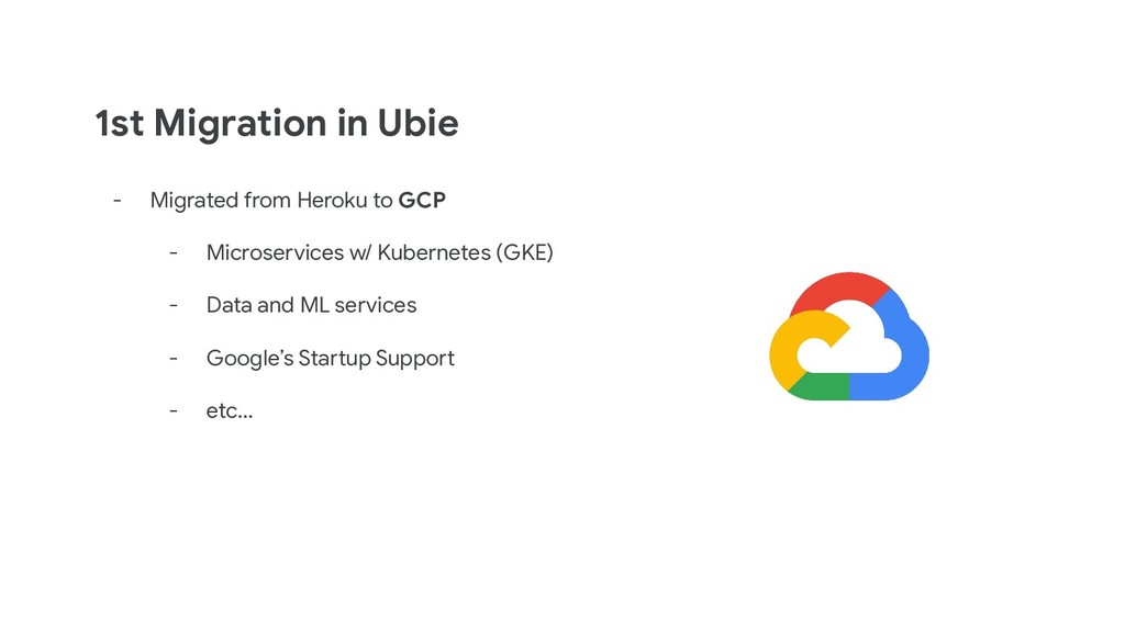 1st Migration in Ubie - Migrated from Heroku to...