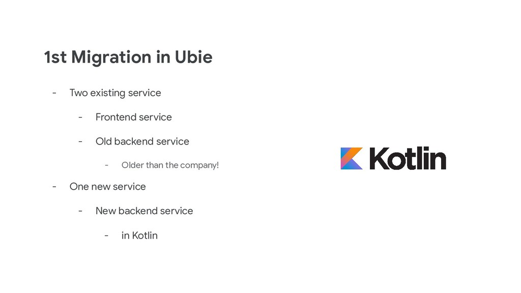 1st Migration in Ubie - Two existing service - ...
