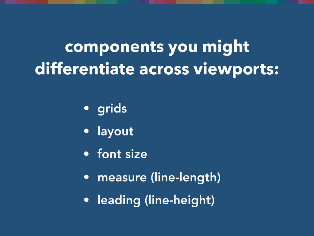 components you might differentiate across viewp...